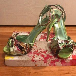 """4"""" peep toe heels, ankle buckle strap"""